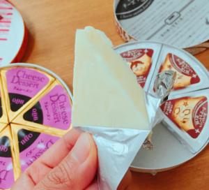 チーズデザートの小包装を開けてみた