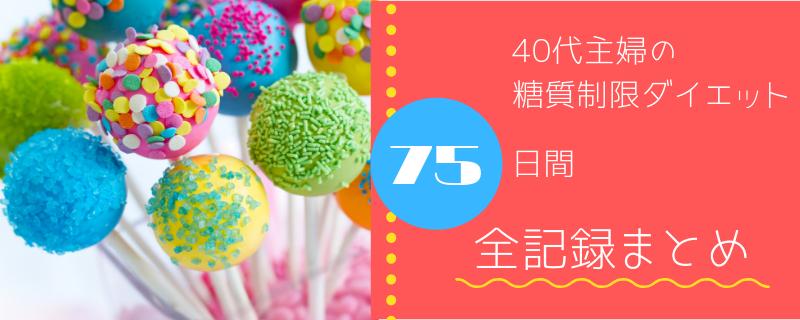 【40代主婦の糖質制限ダイエット】75日間全記録まとめ