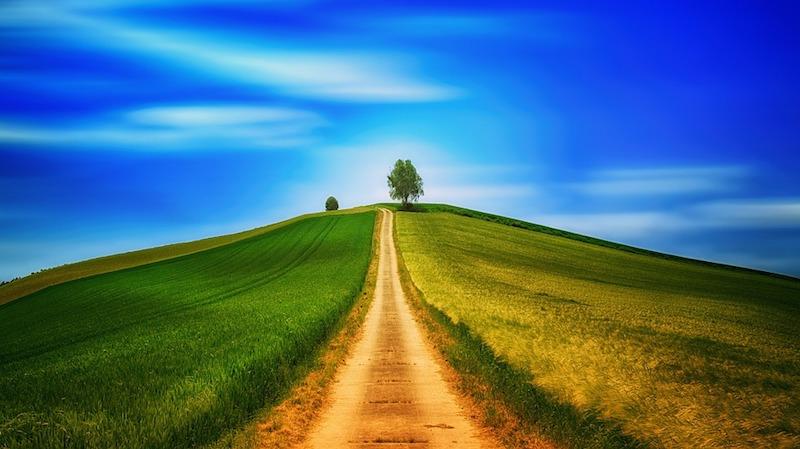 青空へ続く道