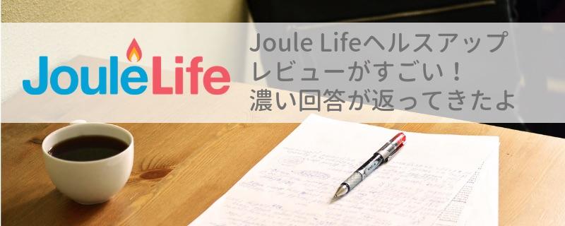JouleLifeヘルスアップレビューがすごい!濃い回答が返ってきたよ