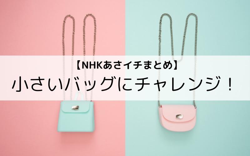 【NHKあさイチまとめ】小さいバッグにチャレンジ!