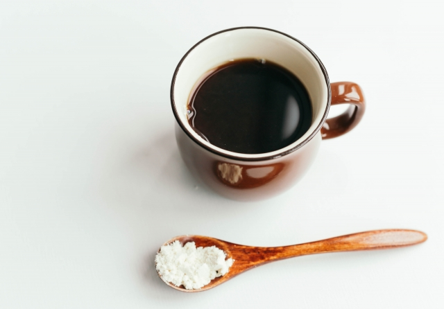 おからパウダーとコーヒー