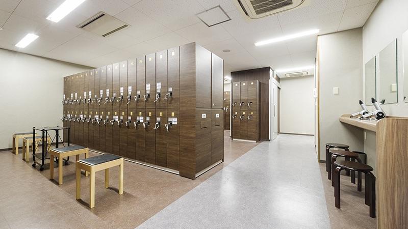 ティップネス 田無店 ロッカールーム