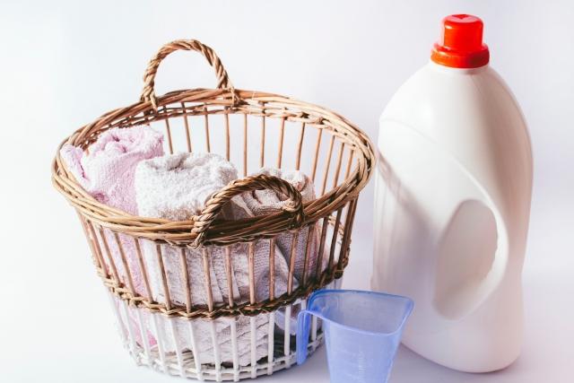 洗剤と洗濯物
