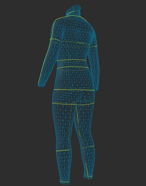 zozoスーツダイエット!毎月サイズを計測中。今月はダイエット開始から9ヶ月目。斜め後ろからのシルエット