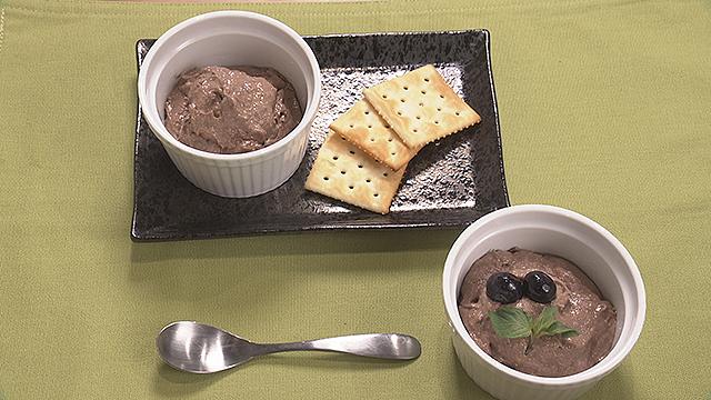 豆腐のパンナコッタチョコレート風