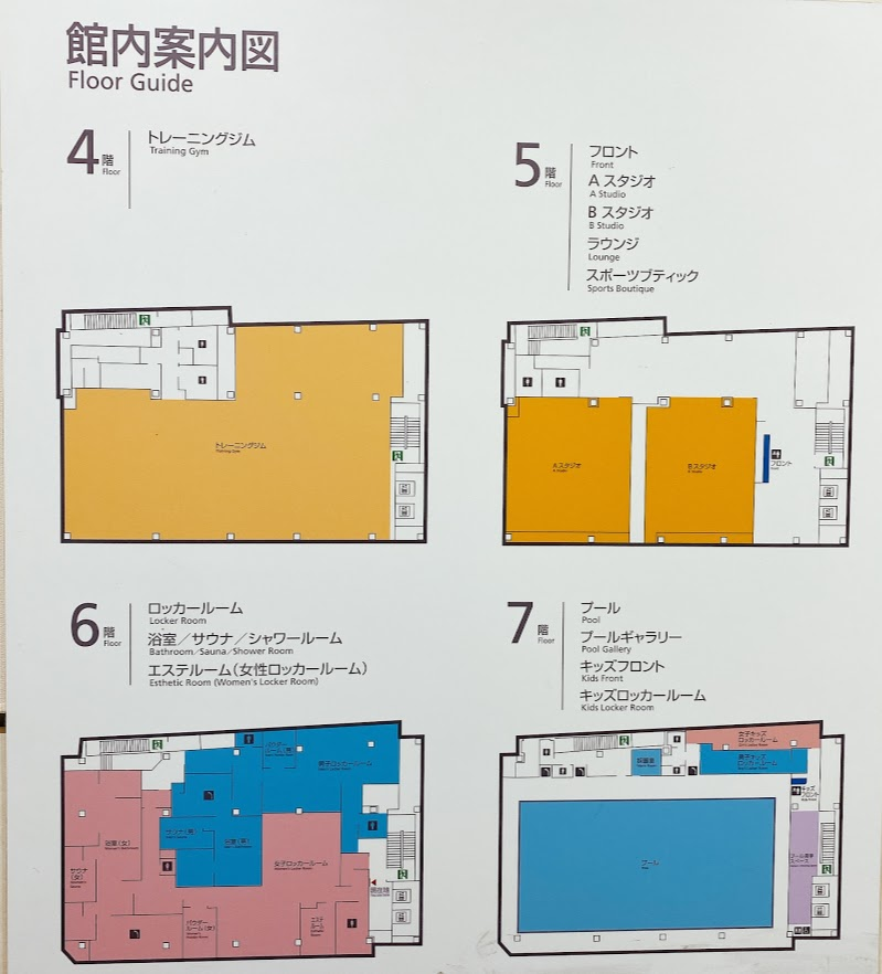 ティップネス鶴見 館内図